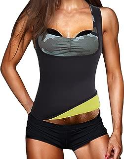 Womens Workout Waist Trimmer Hot Sweat Slimming Neoprene Shirt Vest Body Shapers