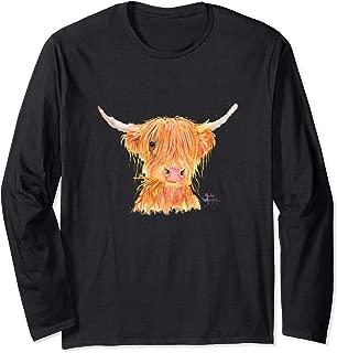 'FeRGuS' - HiGHLaND CoW PRiNT ToP Long Sleeve T-Shirt