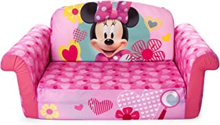 Marshmallow Furniture, Children's 2 in 1 Flip Open Foam Sofa, Minnie Mouse, by Spin..