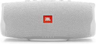 JBL Charge 4 Portable Bluetooth Speaker and Power Bank with Rechargeable Battery for More Devices – Waterproof – White