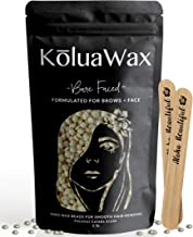 Hard Wax Beans for Painless Hair Removal (Thin Fine Facial Hair Specific). Bare Faced by KoluaWax for Sensitive Skin, Brows, Soft Upper Lip, Sideburns, Neck. Large Refill Pearl Beads for Wax Warmers.