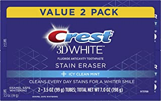 Best Crest 3D White Stain Eraser Whitening Toothpaste, Icy Clean Mint, 2 Count Review