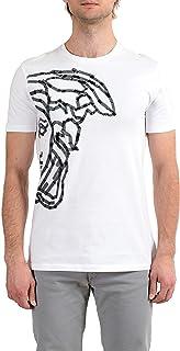 Collection Men's White Graphic Short Sleeve Crewneck T-Shirt Sz US M IT 50