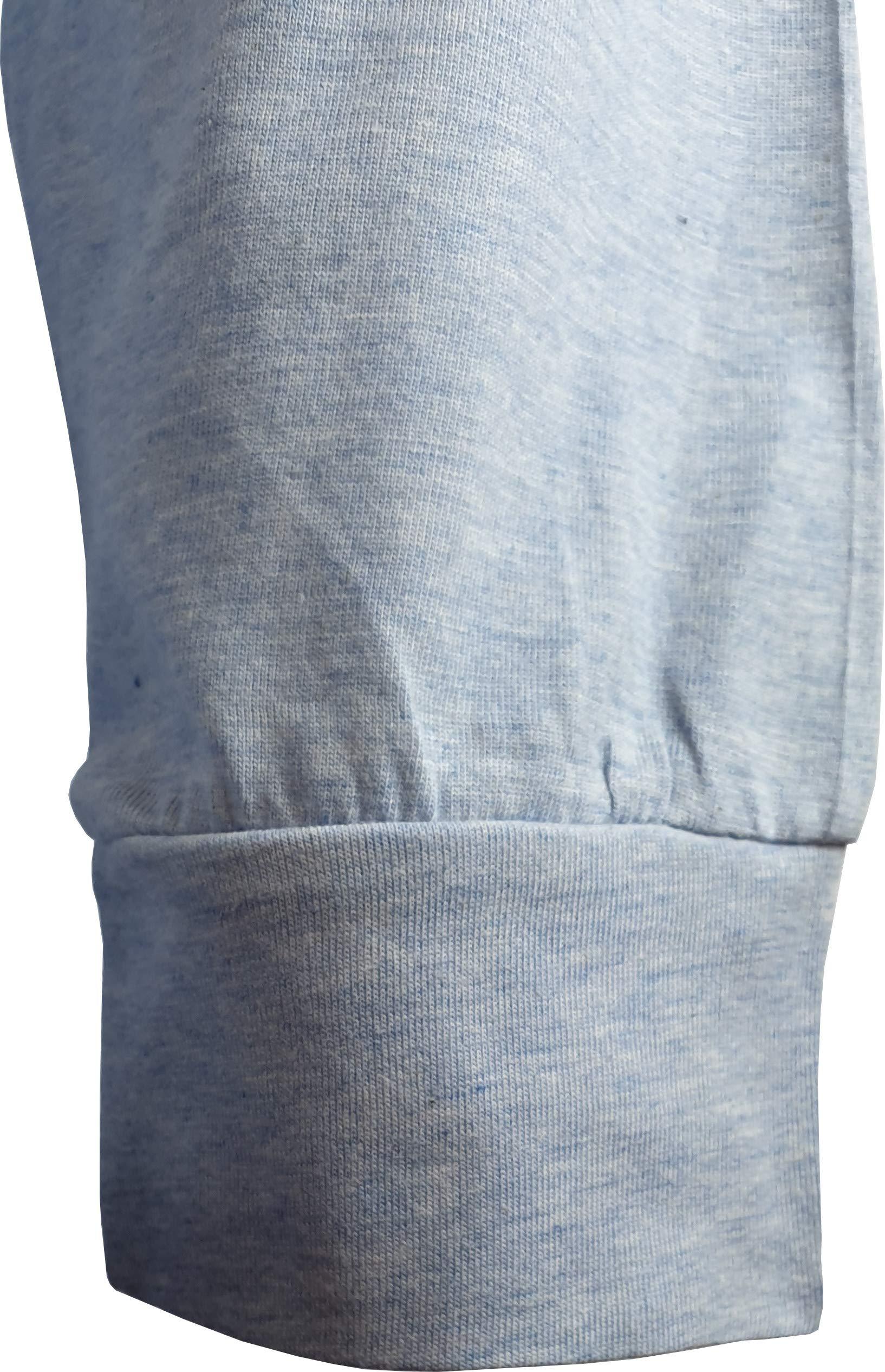 KISENE Superga Pigiama Uomo con Maglia Bicolore e Pantalone in Tinta Unita Logo sul Petto Colore Bianco Melange