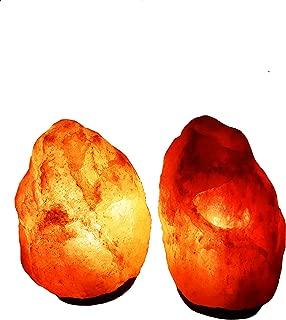 2x tuz lambası kristal tuz lambası 2–3kilo Salzlampenfassung ve ampul dahil