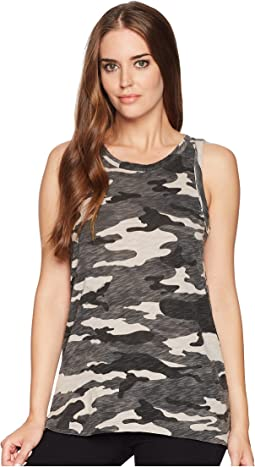 Dylan by True Grit Camo Cargo Tank Top