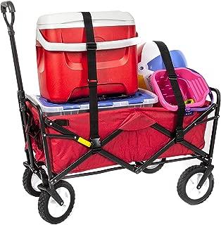 ozark trail folding wagon red