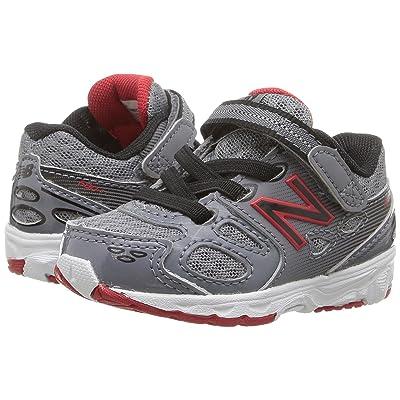 New Balance Kids KA680v3 (Infant/Toddler) (Grey/Black) Boys Shoes