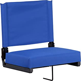 Flash Furniture Grandstand Comfort Seats by Flash with Ultra-Padded Seat in Blue - XU-STA-BL-GG