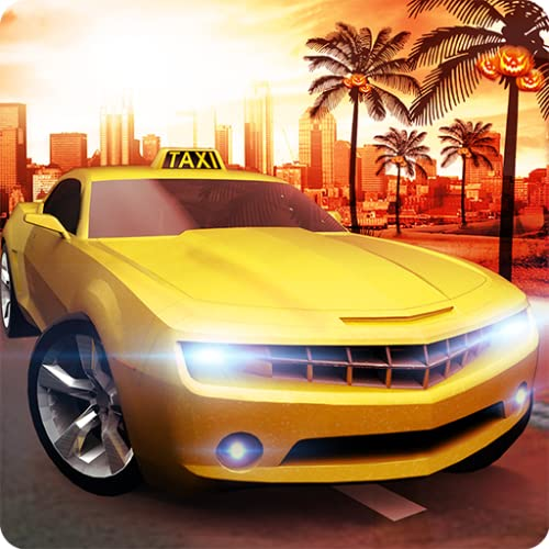 Halloween Party Verrückte Taxifahrer Mania 3D: Euro Autofahren & Tourist Transporter Adventure Simulator Spiel