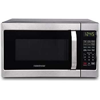 Farberware Classic FMO07AHTBKJ 0.7 Cu. Ft. 700-Watt Microwave Oven with LED Lighting, Brushed Stainless Steel