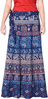 Rajvila Women's Cotton Printed Long 36 Inch Length Regular Wrap Around Skirt Colour (F_W36NT_0002)