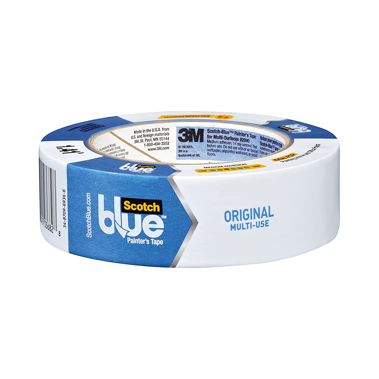 ScotchBlue Original Multi-Surface Painter's Tape,  1.41 inch x 60 yard, 2090, 12 Rolls