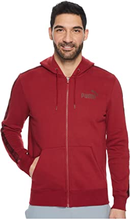 PUMA - Rebel Tape Full Zip Hoodie Fleece