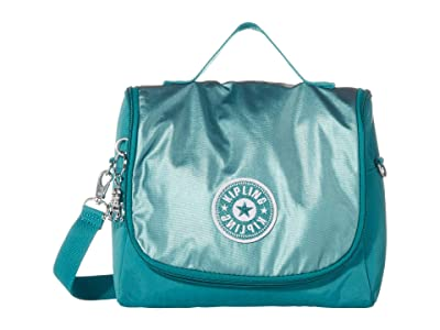 Kipling Kichirou Insulated Lunch Bag (Turqouise Sea Metallic Block) Handbags