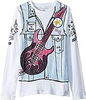 Stella McCartney Kids - Bella Printed Denim Vest Long Sleeve Tee (Toddler/Little Kids/Big Kids)