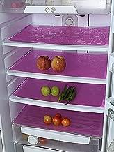 """Kuber Industries Circle Design 6 Piece PVC Refrigerator Drawer Mat Set - 19""""x13"""", Pink (CTKTC03373)"""