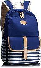 Leaper Canvas School Backpack for Girls Laptop Bag Shoulder Handbag Blue