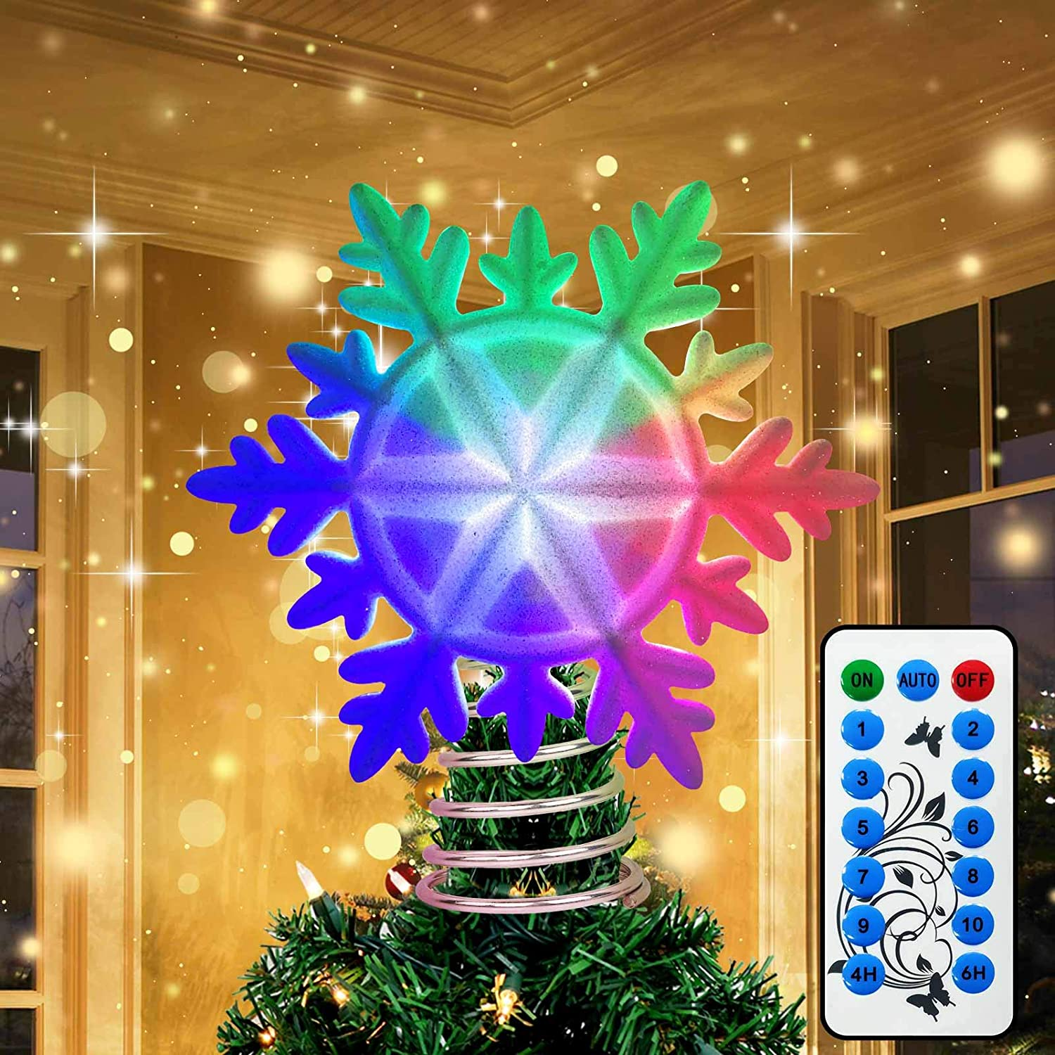 OurWarm Christmas Tree Topper Very popular! Lighted Snowflake mart with