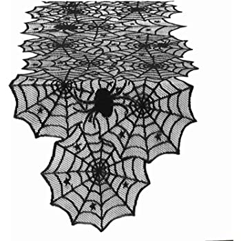 Orange Pillow Perfect Spider Table Runner 72