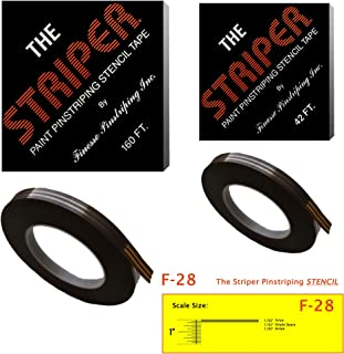 The Striper Paint Pinstriping Stencil Tape - Pinstripe Your Car/Truck   Striper: F-28   Results: 1/32