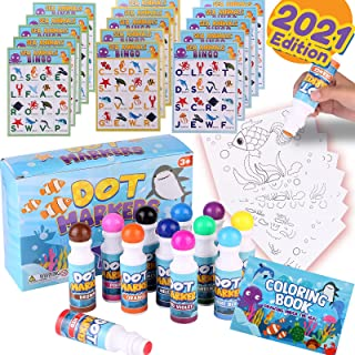 Champcat Dot Markers Toddlers Art Supplies - 36PCS Washable Crayola Markers for Kids Crafts Magic Mess Free Bingo Water Pa...