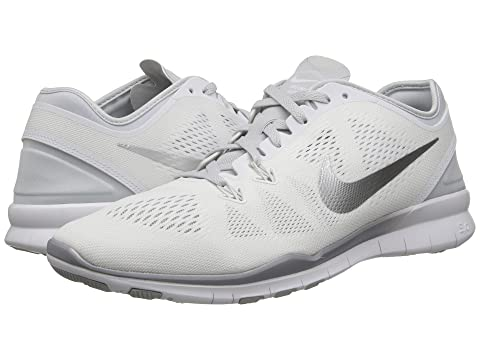 nike free 5.0 tr fit 5 white/metalic gray
