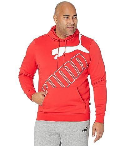 PUMA Big Tall Big Logo Hoodie Fleece (High-Risk Red) Men