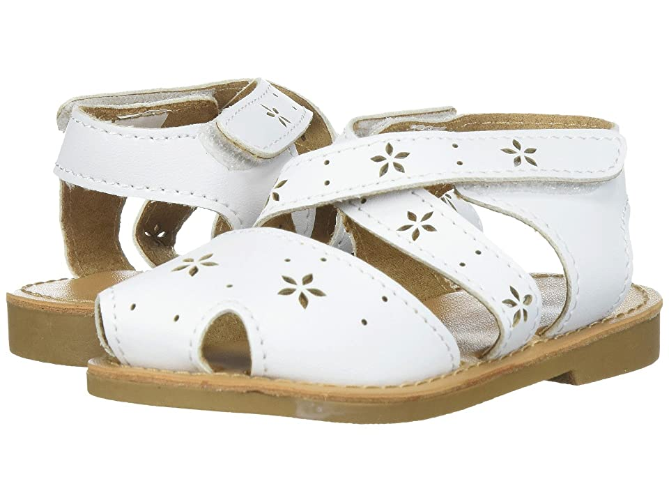 Baby Deer First Steps Sandal with Cut Outs (Infant/Toddler) (White) Girls Shoes