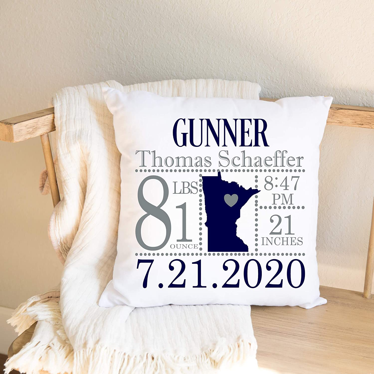 Minnesota Birth Announcement Sale Special Price Pillow Recommendation