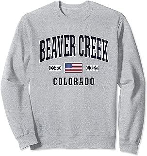 USA FLAG Stars & Stripes Beaver Creek Colorado  Sweatshirt