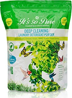 It's So Pure All Natural Laundry Detergent Powder – Deep Cleaning, Removes Dirt, Grease, Stains – Non-toxic, Vegan, Fragra...
