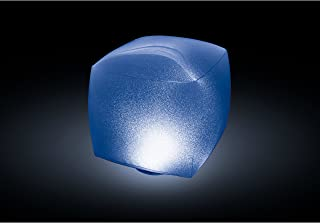 Intex Floating LED Inflatable Cube Light with Multi-Color Illumination, Battery Powered