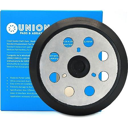 Lijadora de 8 agujeros de 5 pulgadas Hitachi 324-209 Porter Cable DeWalt 151281-08 DW4388 2 unidades discos universales de lijadora orbital para Makita 743081-8 743051-7