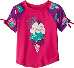 Ice Cream Treats Short Sleeve Rashguard (Toddler/Little Kids/Big Kids)