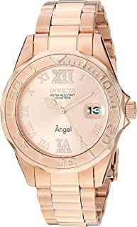 Invicta Women's Angel 38mm Rose Gold Tone Stainless Steel Quartz Watch, Rose Gold (Model: 14398)