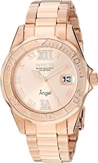 Women's 14398 Angel Analog Swiss-Quartz Rose Gold Watch