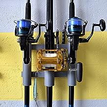 Rod-Runner 3 Rod Rack | Tri-Mount Fishing Rod Holder | Gray