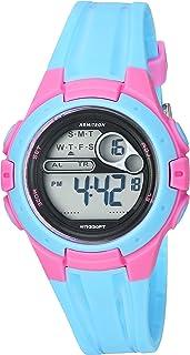 Armitron Sport Women's 45/7079LBL Pink Accented Digital Chronograph Light Blue Resin Strap Watch