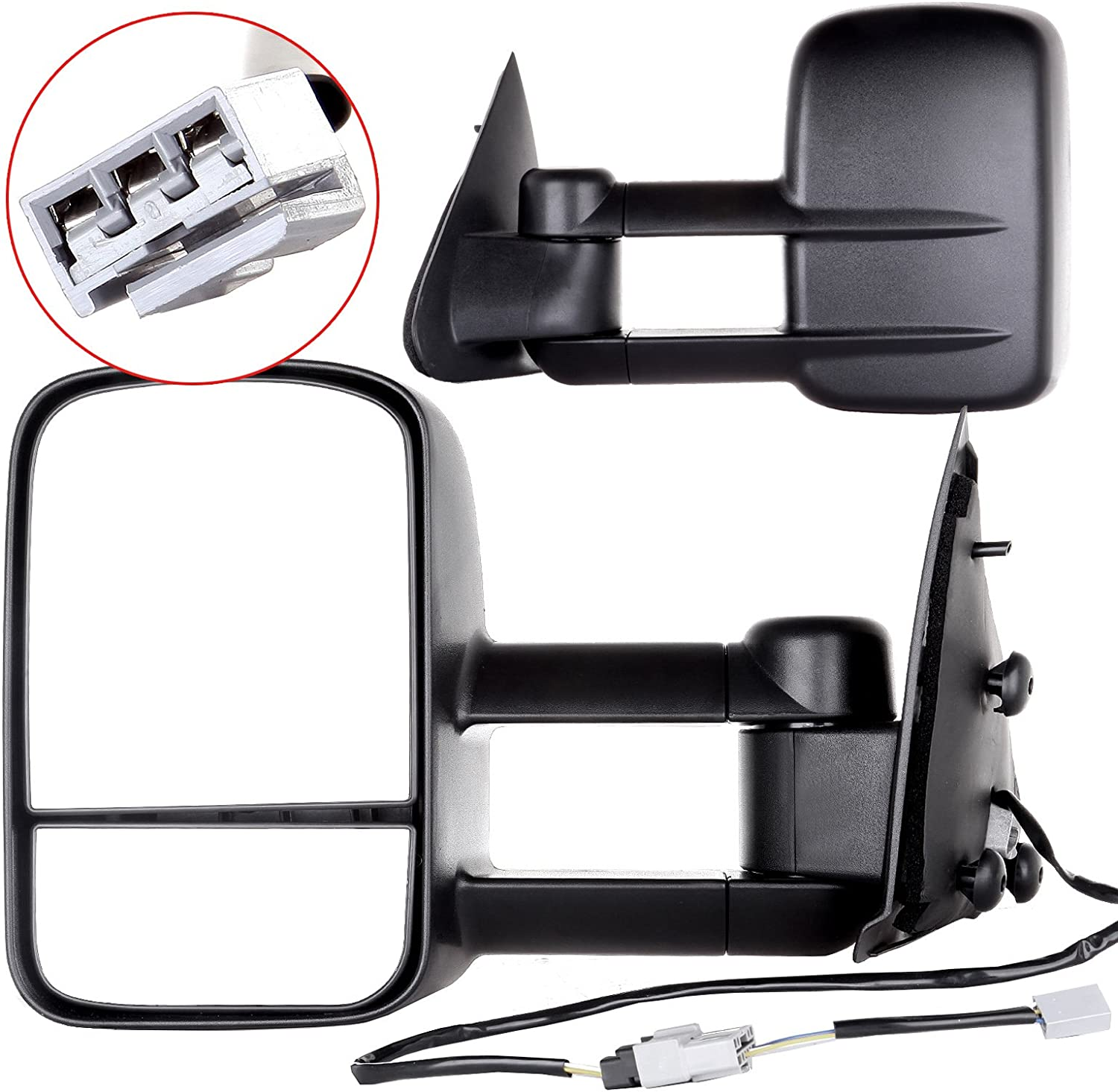 ANGLEWIDE Pair of Towing Popular overseas Mirrors Heated Quantity limited Black Power No Adjusted