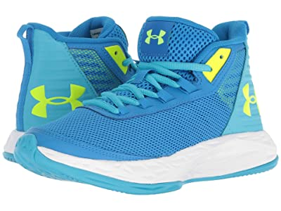 Under Armour Kids UA GGS Jet 2018 (Big Kid) (Blue Circuit/Alpine/High-Vis Yellow) Girls Shoes