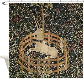 CafePress Unicorn Captured Decorative Fabric Shower Curtain (69