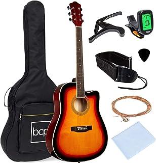 بهترین انتخاب محصولات 41in مجموعه کامل گیتار برش آکوستیک مبتدی با اندازه کامل