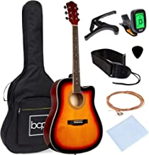 Best Choice Products 41in Full Size Beginner All Wood Acoustic Guitar Starter Set with Case, Strap, Capo, Strings, Picks, ...