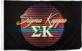 Sigma Kappa 80's Letter Sorority Flag Banner 3 x 5 Sign Decor Sig Kap