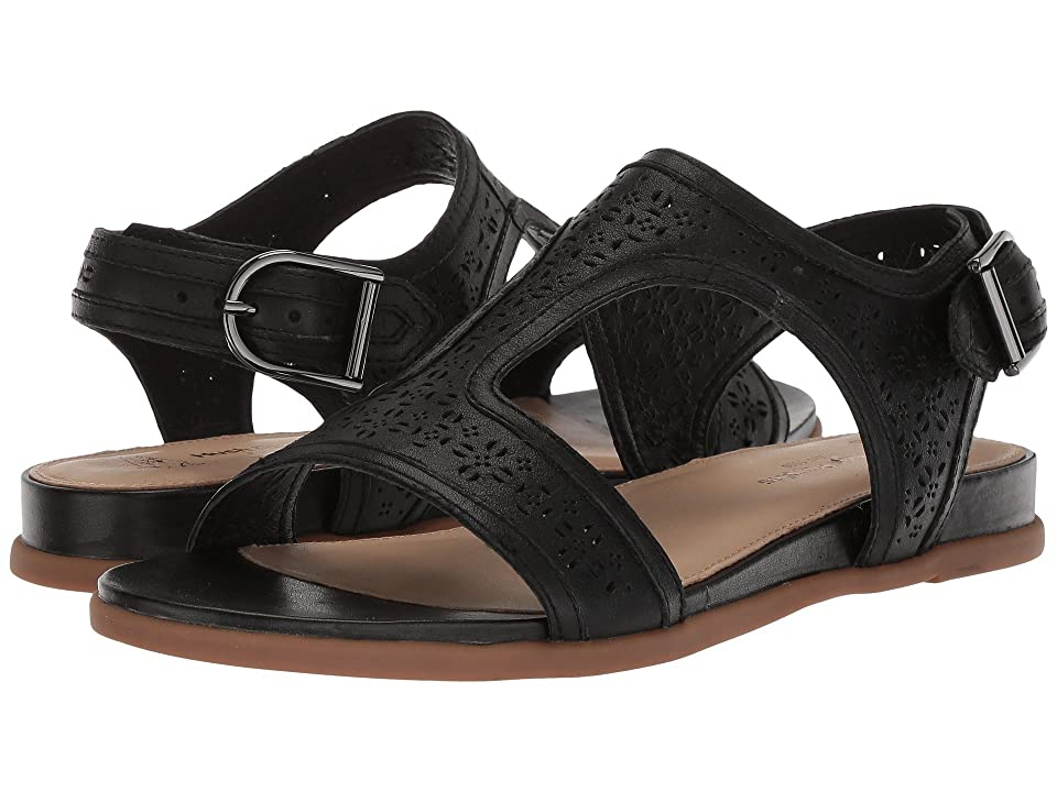 Hush Puppies Dalmatian T-Strap (Black Perf Leather) Women
