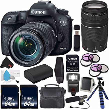 Amazon com: Canon EOS 7D Mark II DSLR Camera with 18-135mm f