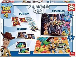 Educa - Superpack Toy Story, Contiene 2 puzzles, 1 juego de memoria y 1 domino, a partir de 3 años (18348)
