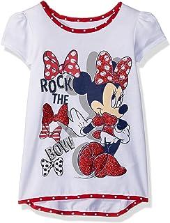 Disney Minnie Mouse - Playera de Manga Corta para niña