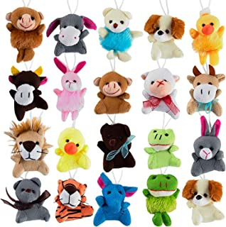 Mini Cute Plush Animals for Children, Shows, Playtime, Schools - 20 Animals Set (20 Pack Mini Plush Animals)